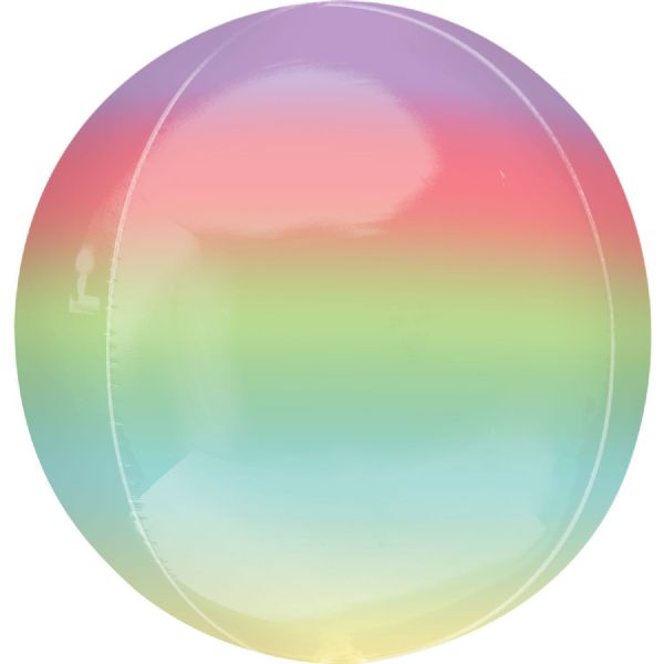 Ombre Rainbow Round Orbz 15in Balloon